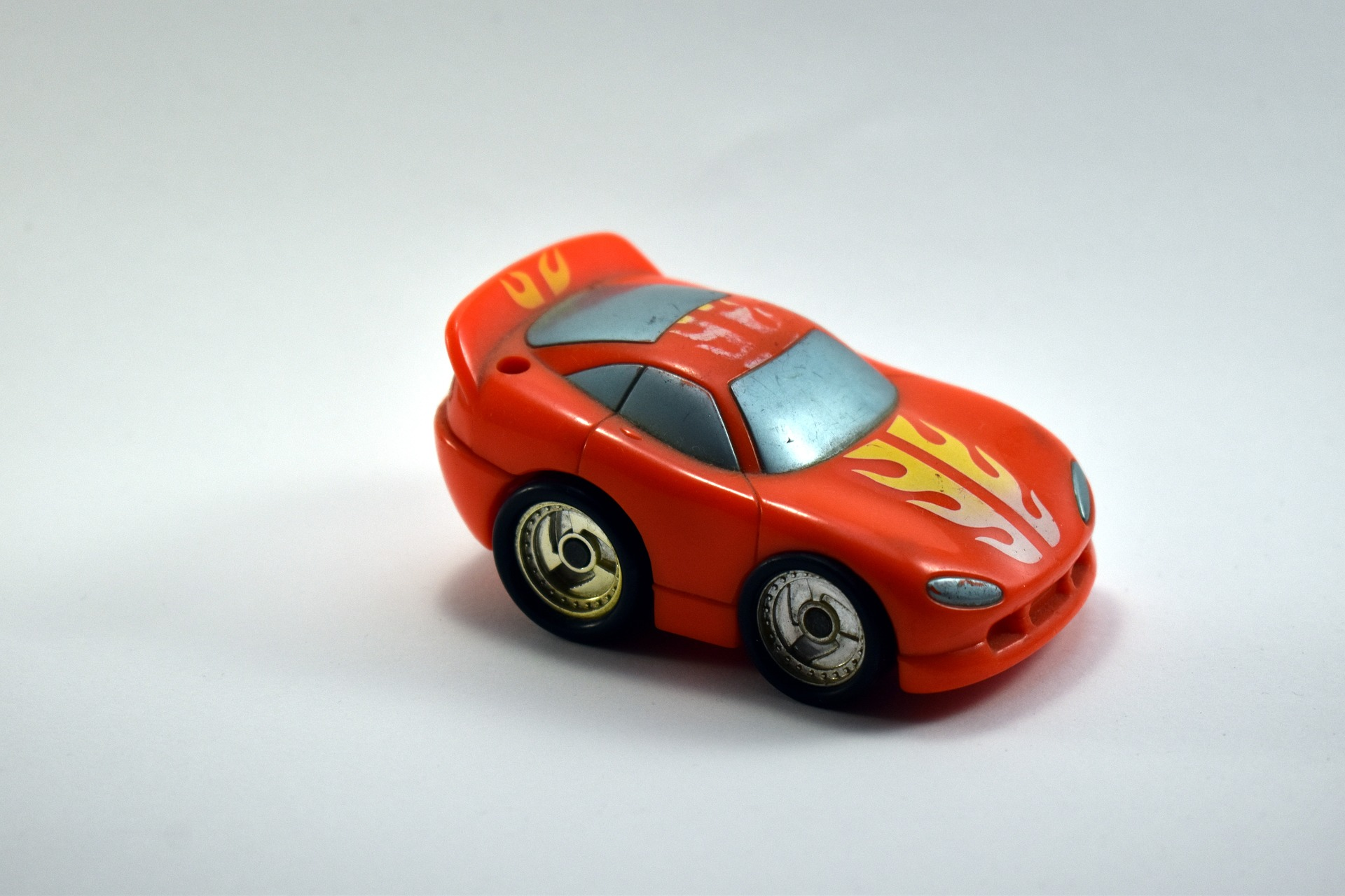 plastic toy car red